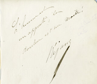GABRIELLE REJANE - AUTOGRAPH QUOTATION SIGNED