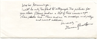 DUNCAN THE CISCO KID RENALDO - AUTOGRAPH LETTER SIGNED
