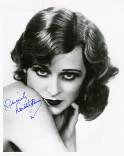 DOROTHY REVIER - AUTOGRAPHED SIGNED PHOTOGRAPH 1980
