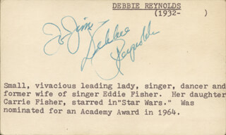 DEBBIE REYNOLDS - INSCRIBED SIGNATURE CIRCA 1953