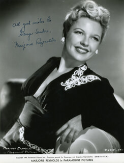 MARJORIE REYNOLDS - AUTOGRAPHED INSCRIBED PHOTOGRAPH