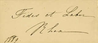 HORTENSE RHEA - AUTOGRAPH QUOTATION SIGNED 1889