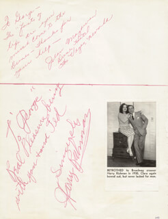 Autographs: HARRY RICHMAN - AUTOGRAPH NOTE SIGNED CO-SIGNED BY: JEAN MAGOWAN, NEIL DOUGLAS