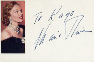 MARIA RIVA - INSCRIBED SIGNATURE