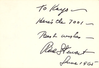 PAUL STEWART - AUTOGRAPH NOTE SIGNED 6/1965