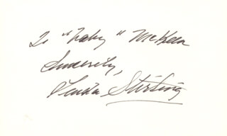 LINDA STIRLING - AUTOGRAPH NOTE SIGNED