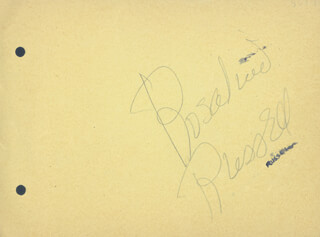 ROSALIND RUSSELL - AUTOGRAPH CO-SIGNED BY: LORETTA YOUNG, DOROTHY BUNDY