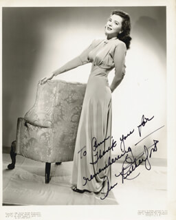 ANN RUTHERFORD - AUTOGRAPHED INSCRIBED PHOTOGRAPH CIRCA 1944
