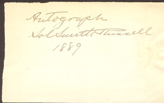 SOL SMITH RUSSELL - AUTOGRAPH 1889