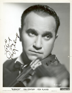 DAVID RUBINOFF - AUTOGRAPHED INSCRIBED PHOTOGRAPH 1935