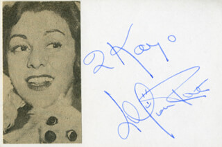 LILLIAN ROTH - INSCRIBED CARD SIGNED