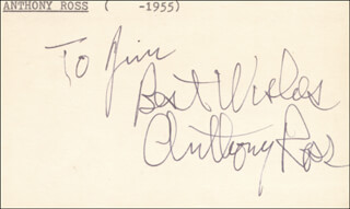 ANTHONY ROSS - AUTOGRAPH NOTE SIGNED