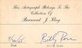 BILLY ROSE - AUTOGRAPH 09/26/1955