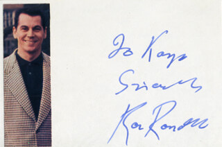 RON RANDELL - AUTOGRAPH NOTE SIGNED