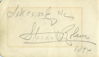 STUART ROBSON - AUTOGRAPH SENTIMENT SIGNED 1894 CO-SIGNED BY: GEORGE HUTCHINS