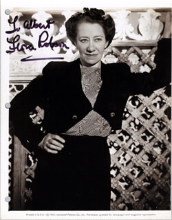 DAME FLORA ROBSON - AUTOGRAPHED INSCRIBED PHOTOGRAPH CIRCA 1947
