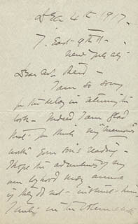 EDWARD H. SOTHERN - AUTOGRAPH LETTER SIGNED 12/04/1917