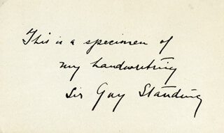 SIR GUY STANDING - AUTOGRAPH STATEMENT SIGNED