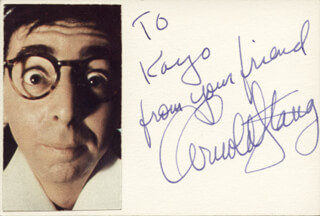 ARNOLD STANG - AUTOGRAPH NOTE SIGNED