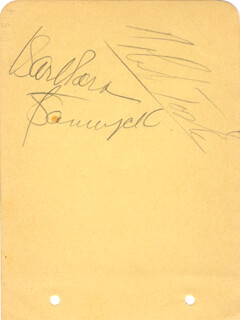 BARBARA STANWYCK - AUTOGRAPH CO-SIGNED BY: ROBERT TAYLOR