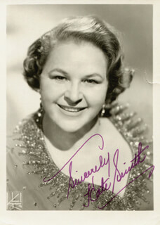 KATE SMITH - AUTOGRAPHED SIGNED PHOTOGRAPH
