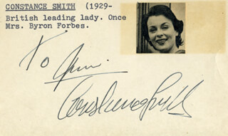 CONSTANCE SMITH - INSCRIBED SIGNATURE