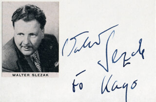 WALTER SLEZAK - INSCRIBED SIGNATURE