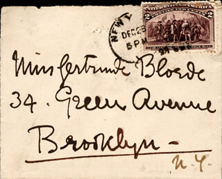 ELLEN TERRY - AUTOGRAPH ENVELOPE UNSIGNED 12/28