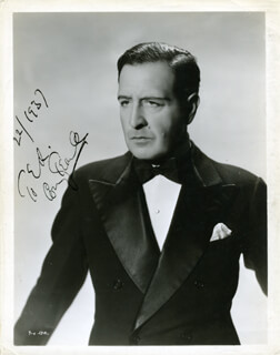 CONWAY TEARLE - AUTOGRAPHED SIGNED PHOTOGRAPH CIRCA 1937