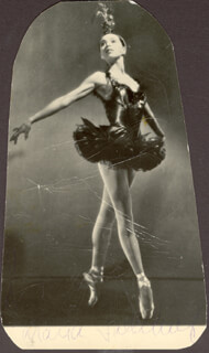 MARIA TALLCHIEF - AUTOGRAPHED SIGNED PHOTOGRAPH