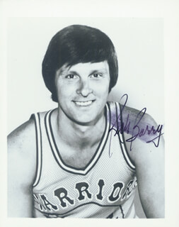 RICK BARRY - AUTOGRAPHED SIGNED PHOTOGRAPH  - HFSID 2305