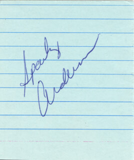 Autographs: SPARKY ANDERSON - CLIPPED SIGNATURE
