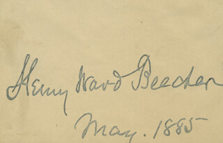 Autographs: HENRY WARD BEECHER - SIGNATURE(S) 5/1885