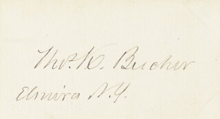 Autographs: THOMAS K. BEECHER - SIGNATURE(S)
