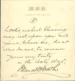 MAUD BALLINGTON BOOTH - AUTOGRAPH QUOTATION SIGNED