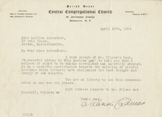 S. PARKES CADMAN - TYPED LETTER SIGNED 04/13/1932