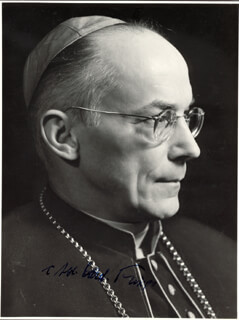 Autographs: JOSEPH CARDINAL FRINGS - PHOTOGRAPH SIGNED
