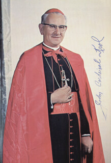 Autographs: JOHN CARDINAL KROL - PRINTED PHOTOGRAPH SIGNED IN INK