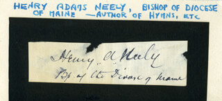 HENRY NEELY - AUTOGRAPH