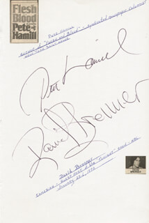 PETE HAMILL - AUTOGRAPH CO-SIGNED BY: DAVID BRENNER