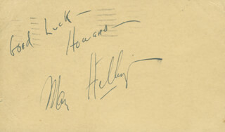 MARK HELLINGER - AUTOGRAPH NOTE SIGNED CIRCA 1939