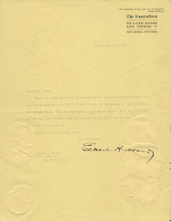 ELBERT HUBBARD - TYPED LETTER SIGNED 09/15/1906