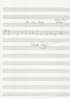 NORMAN LUBOFF - AUTOGRAPH MUSICAL QUOTATION SIGNED