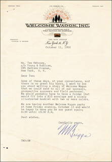 Autographs: THOMAS BRIGGS - TYPED LETTER SIGNED 10/11/1950