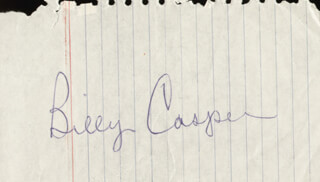 BILLY CASPER - AUTOGRAPH