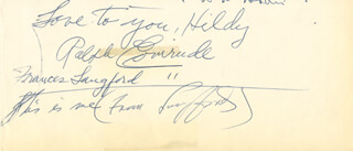 RALPH EVINRUDE - AUTOGRAPH NOTE SIGNED CO-SIGNED BY: FRANCES LANGFORD