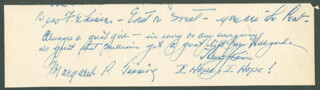 HENRY J. HURRY-UP HENRY KAISER - AUTOGRAPH NOTE SIGNED CO-SIGNED BY: BESS F. KAISER, HENRY F. COPELAND