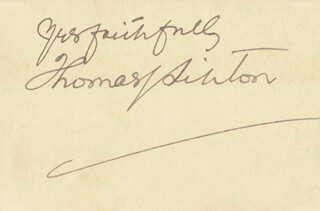 Autographs: THOMAS J. LIPTON - AUTOGRAPH SENTIMENT SIGNED