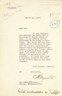 HENRY MORGENTHAU SR. - TYPED LETTER SIGNED 03/11/1919 CO-SIGNED BY: EDWARD A. FILENE