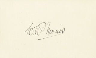 WILLIAM RICHARD MORRIS - AUTOGRAPH